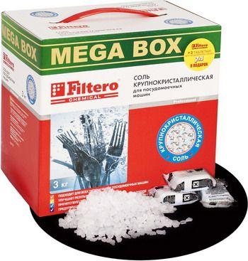 Соль для посудомоечной машины Filtero МЕГА 717 3кг