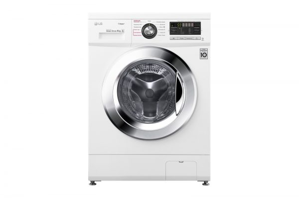 Суперузкая стиральная машина LG F1096SDS3 с функцией пара Цвет белый