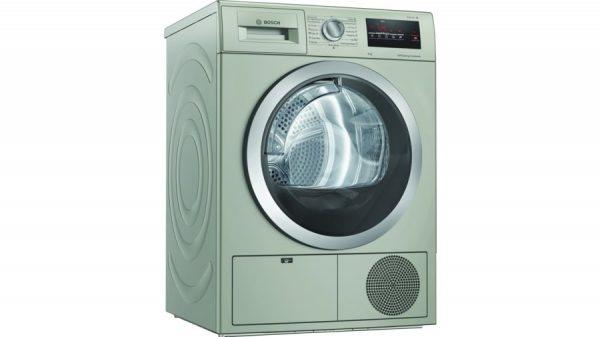 Конденсационная сушильная машина BOSCH 8 kg silver inox WTN8543SME Цвет серебристый