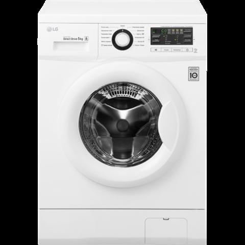 Узкая стиральная машина LG FH0B8ND6 с системой прямого привода Цвет белый